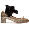 MIU MIU  golden shoe with black ribbon - Classic shoes & Pumps -