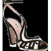MIU MIU metallic curved strap sandals - Sandals -