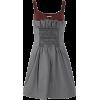 MIU MIU grey & bordeau dress - Obleke -