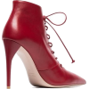 MIU MIU,red leather ankle boots - Stivali -