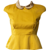 MIU MIU yellow mustard blouse - Shirts -