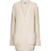 MONCLER Faux fur, wool and cashmere card - Cardigan -