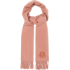 MONCLER Logo-appliqué fringed wool scarf - Scarf -