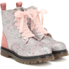 MONNALISA Glitter leather ankle boots - Boots -