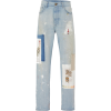 MONSE Patchwork-Detailed Distressed Stra - Jeans -