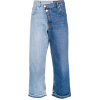 MONSE bicolor cropped jeans - Dżinsy -
