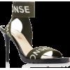 MONSE logo printed canvas sandal - Sandale -
