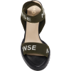 MONSE logo printed canvas sandal - Sandálias -