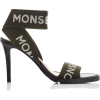 MONSE logo printed canvas sandal - Sandálias -