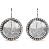 MORITZ GLIK 18-karat gray gold palladium - Earrings -