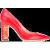 MOSCHINO logo heel pumps - Classic shoes & Pumps - 467.00€  ~ $543.73