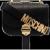 MOSCHINO logo strap leather shoulder bag - Hand bag -