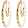 MOUNSER Orbis Pearl Beaded Hoop Earrings - Brincos -
