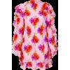 MSGM floral print dress, pink, ruffled, - Kleider -