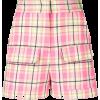 MSGM plaid high-waisted shorts - Shorts -