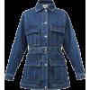 MSGM Belted denim safari jacket - Chaquetas -