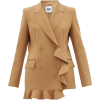 MSGM Double-breasted ruffled crepe blaze - Jaquetas e casacos -