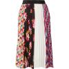 MSGM Printed plissé-crepe skirt - Skirts -