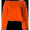 MSGM cropped sweatshirt orange - Pullovers - $210.00