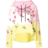 MSGM floral embellished pastel hoodie - Pullovers -