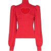 MSGM heart cutout knitted jumper - 長袖シャツ・ブラウス -