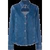 MSGM heart shape cut out denim shirt - Long sleeves shirts -