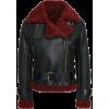 MUUBAA Shearling-trimmed leather biker j - Jacket - coats - $883.00