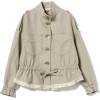 MW / linen fringe browsing blouson - Jacket - coats -
