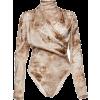 Magda Butrym Favara Draped Floral-Print - Long sleeves shirts -