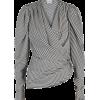 Magda Butrym - Striped silk top - 長袖シャツ・ブラウス -
