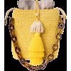 Maison Alma Iraca Yellow Jacquard Tote - Messenger bags -