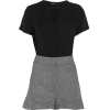 Maje Woven And Twill Playsuit - Grembiule -