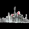 Makeup City Skyline Illustration - Illustrations -