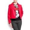 Mango Women's Biker Jacket Red - Jacket - coats - $119.99