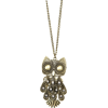 Mango Women's Chain With Oversize Owl Pendant Gold - Privjesci - $24.99  ~ 158,75kn