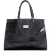 Mango Women's Cocodrile Texture Shopper Handbag Black - Hand bag - $47.99