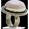 Mango Women's Oversize Stone Ring Beige - Anelli - $19.99  ~ 17.17€