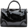Mango Women's Shiny Bowling Handbag Black - Hand bag - $59.99