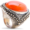 Mango Women's Vintage Style Ring Coral - Rings - $19.99