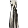 Mango black and white striped dress - sukienki -