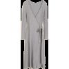 Mango knit wrap dress - sukienki -