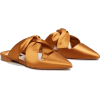 Mango slippers in gold - フラットシューズ -