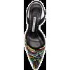 Manolo Blahnik Beaded Leather Pumps - Sandalias -