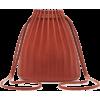 Mansur Gavriel Pleated Brown Leather Buc - Borsette -