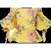 Marchesa Peplum Top Yellow - Dresses -