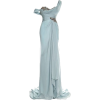 Marchesa Dusty Blue Gown - Dresses -