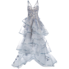 Marchesa Embellished Tulle Bustier Gown - Vestiti -