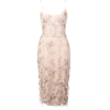 Marchesa Notte Ostrich Feather Trim Embr - Kleider -