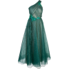 Marchesa Notte midi dress in teal - Vestidos -