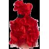Marchesa Ruffled Satin Mini Dress - Vestiti -